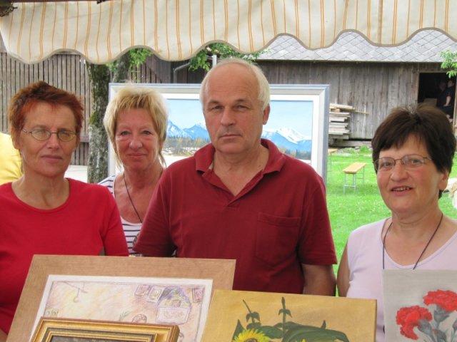 Podbreski slikarji-Barbara,Ronka,Tilka,Zdravko