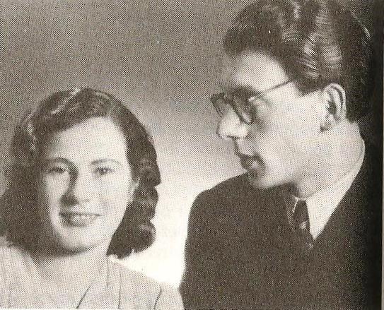 Karel Mauser s soprogo Mimi leta 1945