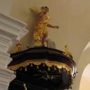 Farna cerkev Podbrezje--prižnica