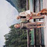 MM na Jezerskem s hčerko Mili in kužkom Tobijem