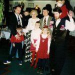 MM ob svoji 80 letnici s tremi vnuki in petimi pravnuki