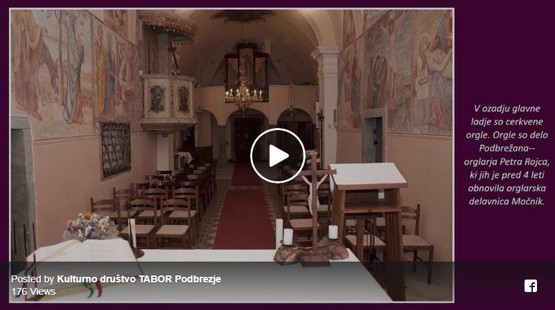 Cerkvi in kapelice v video predstavitvi